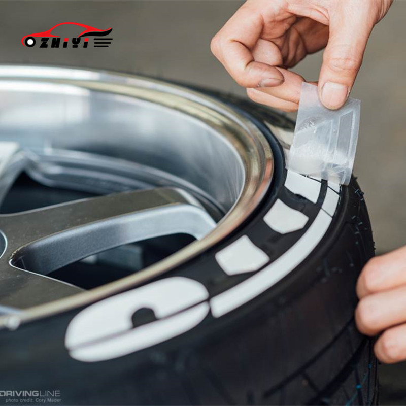 Car Letters Are Suitable For NITTO Stickers Installed On The Tires For Car Tire Decoration Stickers For Easy Installation