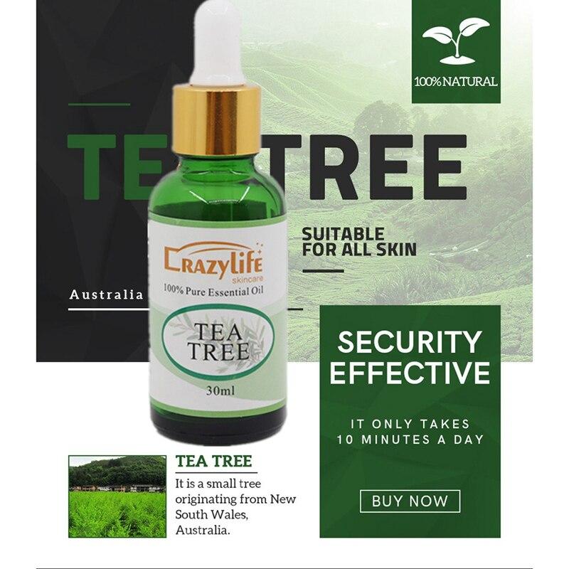 30ML Tea Tree Essence Oil Firming Skin Smooth Fine Lines Brighten Skin Color Face Serum Body Care Essential Oils Wholesale