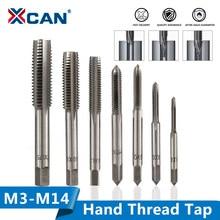 Xcan 1pc m3/m4/m5/m6/m7/m8/m10/m12/m14 mão direita thread tap hss métrica mão torneira reta flauta rosca torneira broca