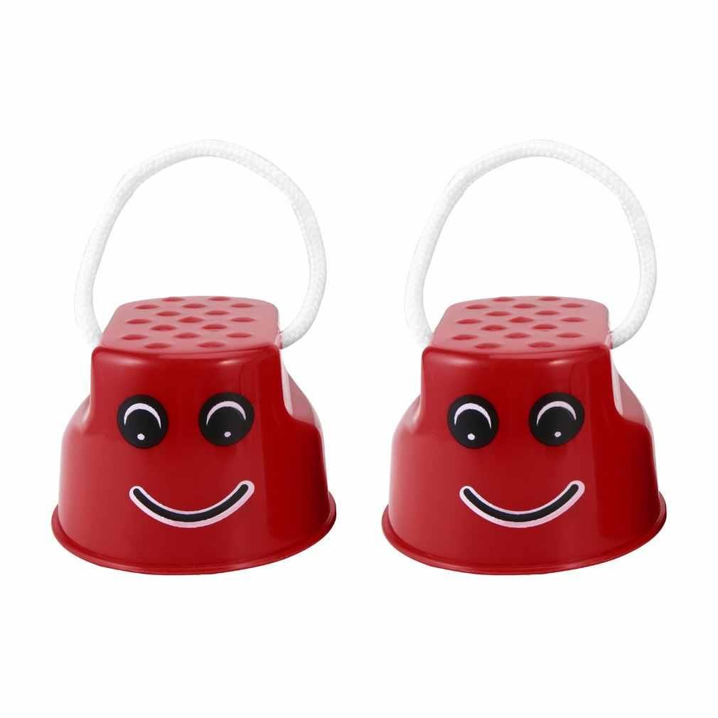 OCDAY 7 Colori 1pc Camminare Trampoli Salto Giocattolo di Plastica Sorriso Viso Modello Per Bambini Divertimento All'aria Aperta Sport Bilanciamento del Giocattolo di Formazione best Regalo