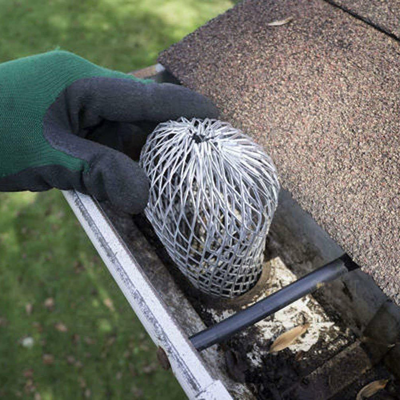 4Pcs Gutter Guard Downspouts Filter Strainer Preventing Leaf Debris Branches Roof Moss From Clogging The Pipes LKS99
