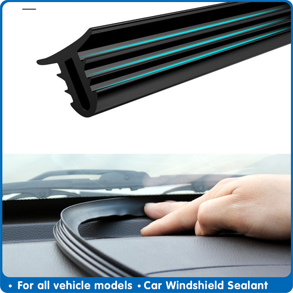 160cm Universal Sealing Windshield Sealing Board Soundproof Automobile Rubber Strip Instrument Panel Seal Strip