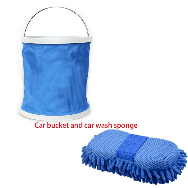 11l portatil dobravel multi funcao balde de lavagem de carro dobravel esponja bloco