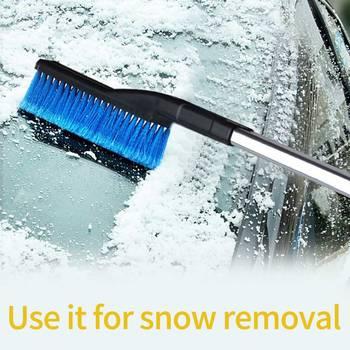 3-In-1 odpinany samochód szkła skrobak pojazd wielofunkcyjny usuwanie śniegu szczotka do łopata do śniegu usuwanie śniegu szczotka tanie i dobre opinie CN (pochodzenie) 83cm Chenille+ aluminum alloy+ ABS 270g 11cm Outdoor Car Windshield Chenille Snow Brush Snow Cleaning Tool