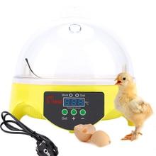 Mini Intelligent 7 Eggs Incubator Turning Temperature Control Kids Children Toy