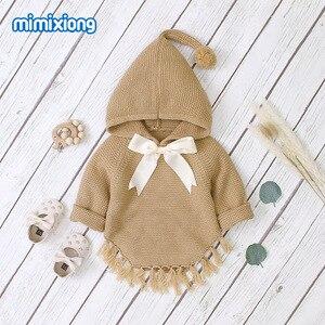Image 3 - ホット販売ベビーニット弓付きセータートップス春の新作秋かぎ針幼児の子供服セーター