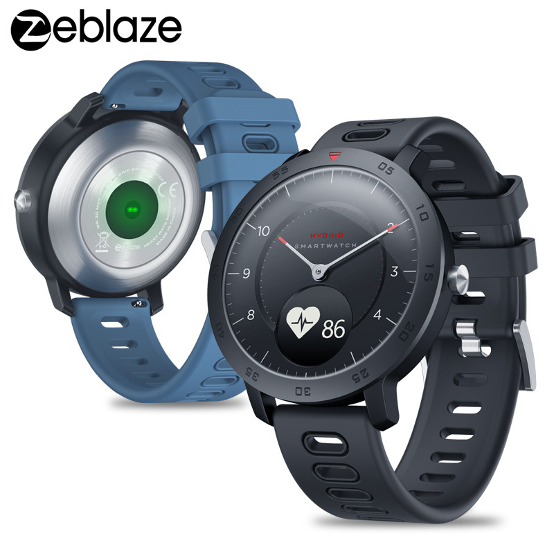 Blood-Pressure-Monitor Smartwatch Zeblaze Heart-Rate Smart-Notifications NEW Hybrid Tracking
