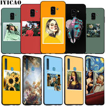 Van Gogh Mona Lisa art cool Zachte Siliconen Telefoon Geval voor Samsung Galaxy A6 Plus A9 A8 A7 2018 A3 a5 2016 2017 Opmerking 9 8 10 Cover(China)