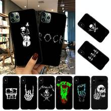 YNDFCNB Rock roll skull Phone Case For iPhone 8 7 6 6S Plus 5 5S SE 2020 12pro max XR X XS MAX 11 case(China)