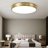 Americano h65 cobre oco lâmpada do teto de luxo casa iluminação sala estar luminária moderna led luz teto com controle remoto