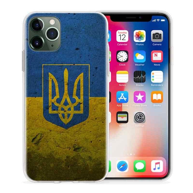 סיליקון מקרה עבור Apple iPhone 11 פרו XR X XS מקסימום 7 8 6 6S בתוספת 7S 5 S SE Coque טלפון מארז טמפה לשמור רגוע ואוקראינה של דגל