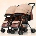 Детская коляска Twins  роскошная Съемная модная коляска  детская коляска с высокой посадкой