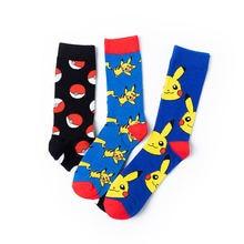 Симпатичные хлопковые носки с покемоном Пикачу для мужчин и