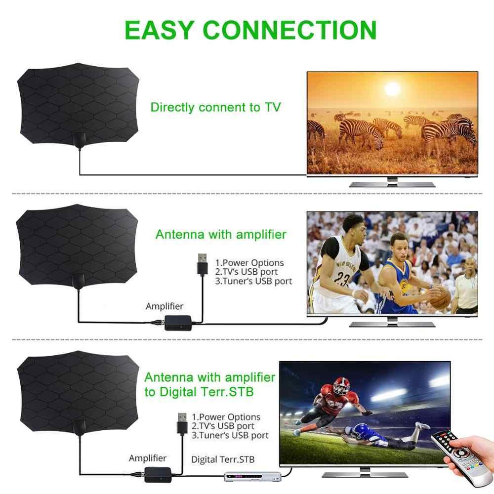 Receptor de sinal digital claro interno 4k 1080 p dvb-t/DVB-T2 isdb-tb da antena da tevê da grade antena esperto de 200 milhas hdtv