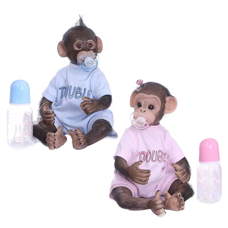 15,8 zoll 40 cm Reborn Baby Puppen Schöne Affe Puppe Weiche Silikon Realistische Spielzeug P31B