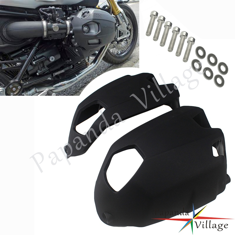 Plastic Black Motorcycle Engine <font><b>Cylinder</b></font> <font><b>Head</b></font> Protector Guard Side Cover For <font><b>BMW</b></font> R NINET 2014-2018 <font><b>BMW</b></font> <font><b>R1200GS</b></font> 2010 2011 2012 image