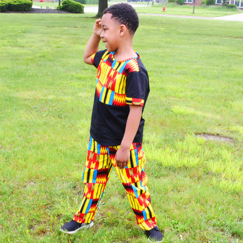 African Clothes For Kids African Boy Shirt And Pant African Traditional Kente Print Sets Cool Kids African Traditional Clothes