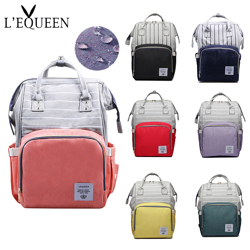 Lequeen Baby Diaper Bag Mommy Stroller Bags Large Capacity Waterproof Nappy Bag Mummy Maternity Travel Backpack Nursing Handbag