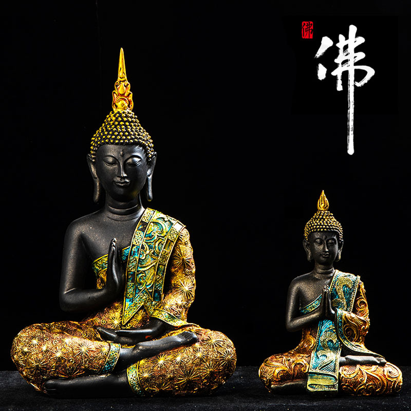 Thailand Buddha Resin Crafts Southeast Asia Creative Porch Home Decoration