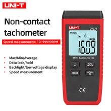 UNI-T ut373 mini digital não-contato tacômetro laser rpm faixa de 10-99999rpm velocidade bloqueio de dados backlight