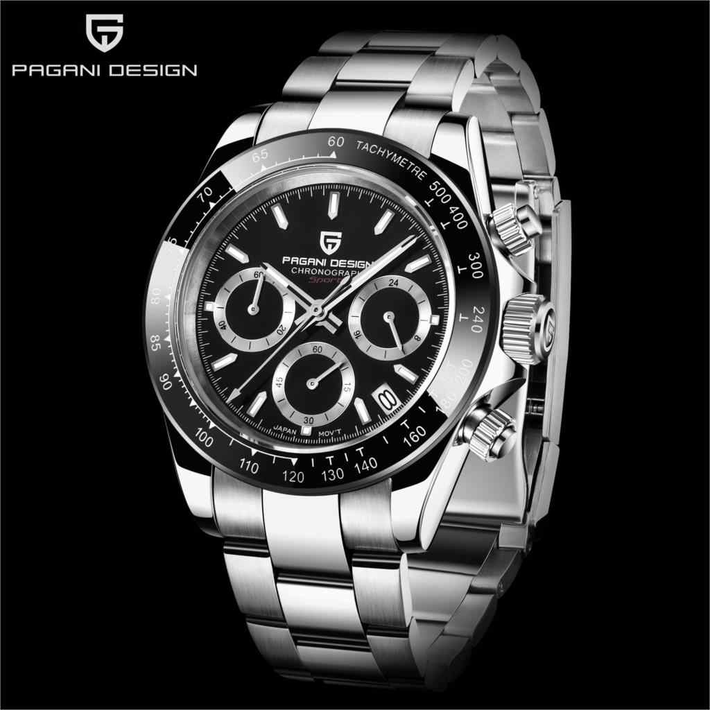 PD1644 New PAGANI DESIGN Men's watch VK63 Japan Quartz Wristwatch Brand Luxury Sapphire Men Chronograph Watch Relogio Masculino