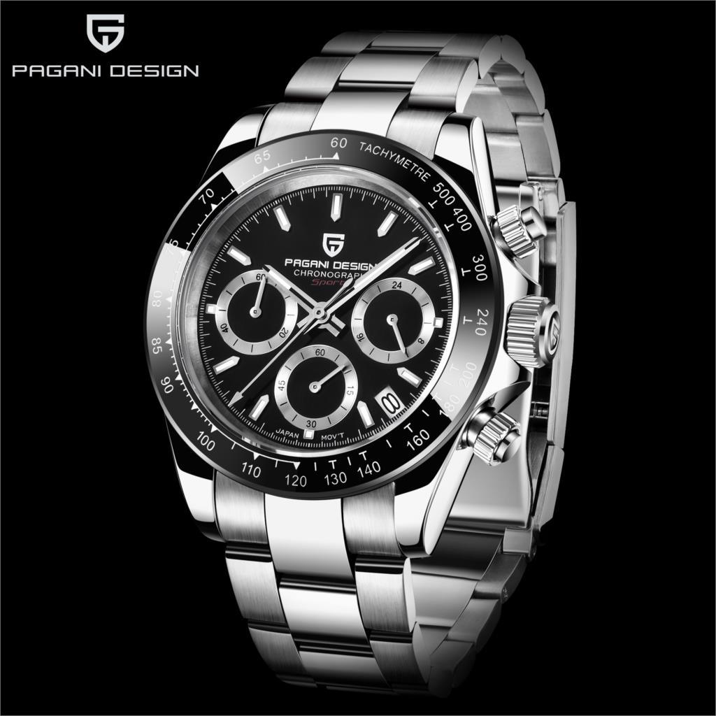 PD1644 New PAGANI DESIGN Men's Watch VK63 Japan Quartz Wristwatch Brand Luxury Sapphire Men Chronograph Watch Relogio Masculino
