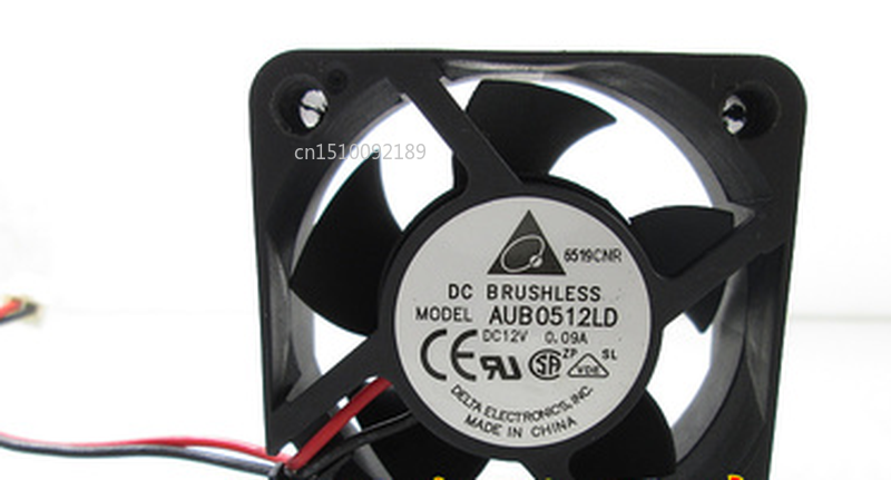 Free Shipping Original AUB0512LD 12V 0.09A 5CM 5020 2-wire Silent Cooling Fan