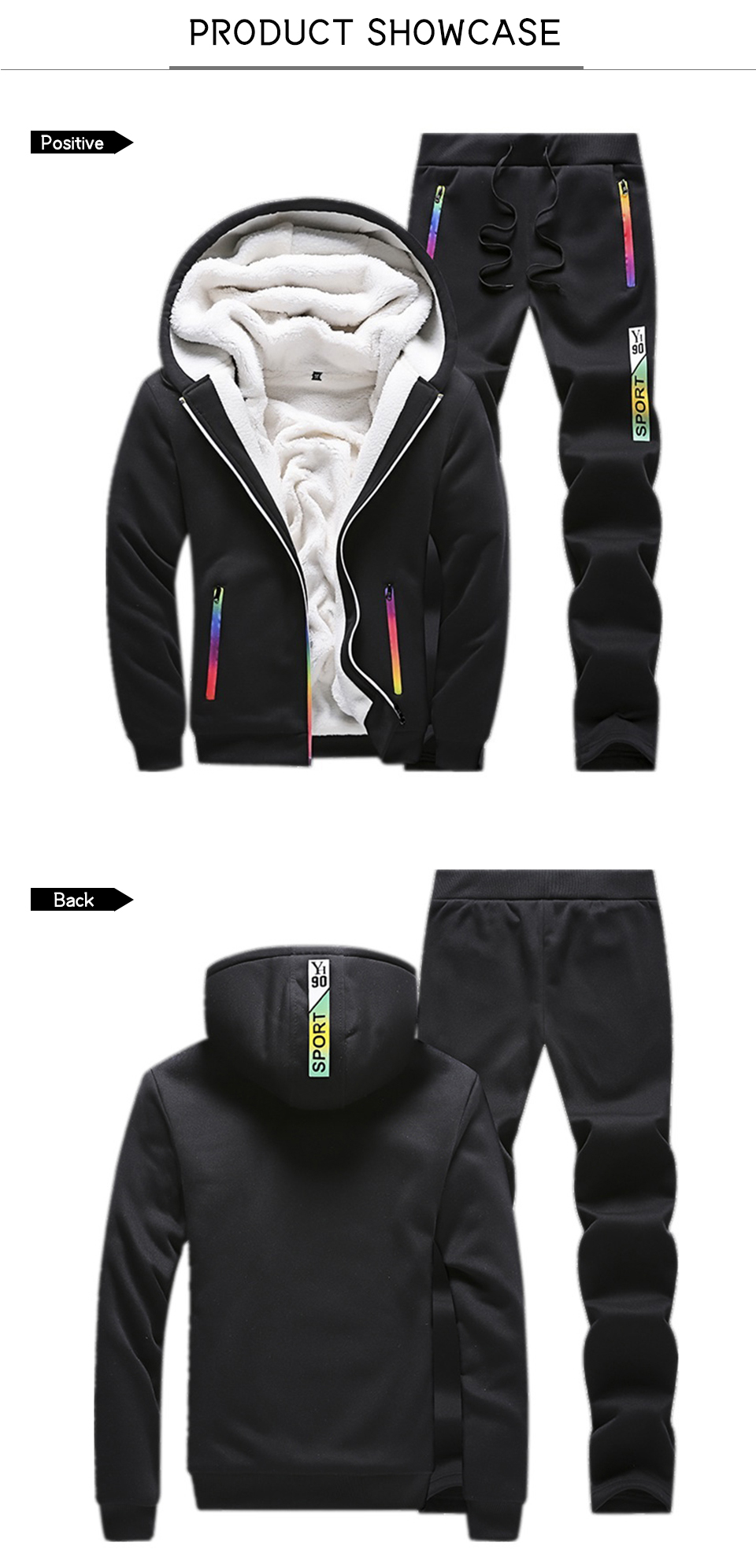 Solid Tracksuits Warm Sporting Jackets 1 10