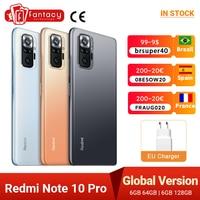 "Global Version Xiaomi Redmi Note 10 Pro Smartphone Snapdragon 732G 108MP Quad Camera 120Hz NFC Cellphone 6.67"" AMOLED DotDisplay 1"