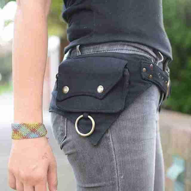 Saco de cintura feminina projetado para mulheres ao ar livre esportes dinheiro rua hip-hop viajar ou cinto estilo saco x4b9 2