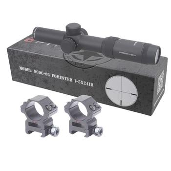 Векторная оптика Forester 1-5X24 IR Rifle Scope супер яркий ясный Edgeless изображение Высокое качество 30 мм Rilfescope для охоты съемки