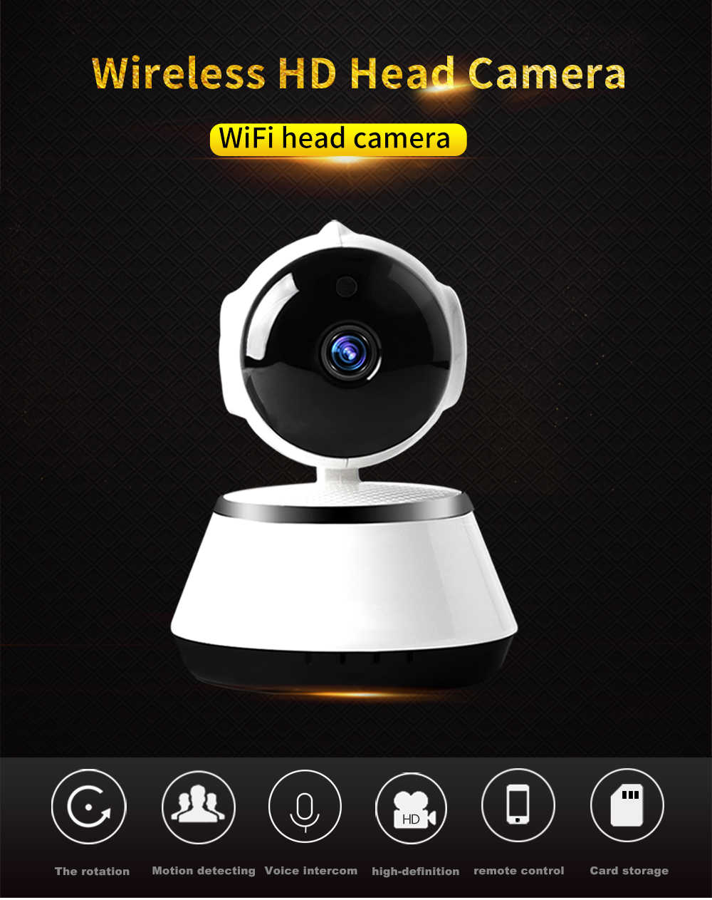 HD 1080p PTZ Indoor Smart Home Kamera Nachtsicht 360 Grad Panorama kamera pan-tilt Baby Monitor pet IP kamera 360 video cam