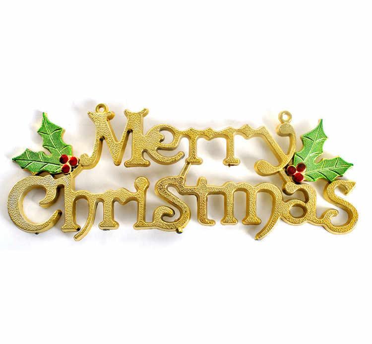 20cm עץ חג המולד קישוט מבריק שמח מכתב כרטיס עבור חג המולד תליית קישוט בית המפלגה טובות חדשה שנה פלסטיק מלאכות LD