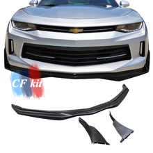 CF комплект 3 шт. PU передний бампер для губ Chevrolet Camaro 2016UP спойлер передний бампер шпилтеры автомобильный Стайлинг