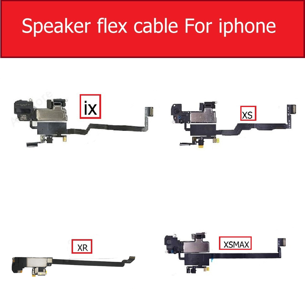 Replacement Parts For IPhone XS Max XR X Ambient Proximity Light Sensor Flex Cable Ribbon With Ear Speaker For IPhone XR