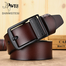 [DWTS]belt male leather belt men male genuine leather strap belts for men cow genuine leather luxury strap men belt cheap Adult Cowskin Metal 3 8cm Fashion Solid 6 5cm 5 5cm