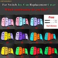 1 Juego de Color caramelo combinado para Nintendo Switch Joy-Con carcasa de repuesto cubierta Joy Con carcasa de controlador de caja dura rosa azul