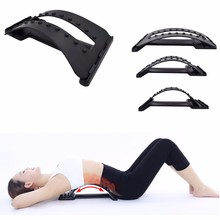 Back Massage Stretcher, Stretching Magic Lumbar Support, Waist Neck Relax Mate Device, Spine Pain Relief Chiropractic magic rolling wheel bar device back lumbar vertebra leg healthcare main and collateral channels special package postal