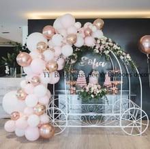 Pastel Baby Pink White Macaron Balloon Arch Set Wedding Bridal Shower Party Backdrop Decoation Wall Organic  1