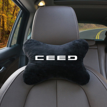 1PCS Super Soft Car Headrest Auto Seat Cover Head Neck Rest Cushion Adjustable Car Pillow For Kia Ceed Rio k3 k5 Forte Sorento