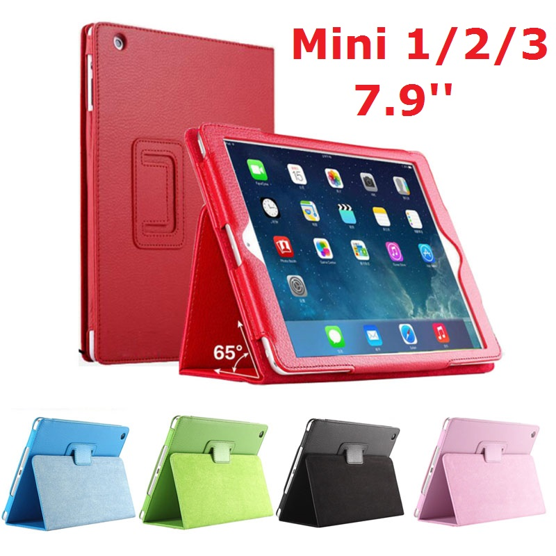 7.9'' Folio Stand <font><b>Coque</b></font> for <font><b>iPad</b></font> mini 2 mini 3 Case Magnetic Smart Flip PU Leather <font><b>A1432</b></font> A1455 A1490 for <font><b>iPad</b></font> mini 123 Cover image
