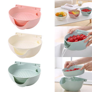 Bowl Plastic Snack Kitchen-Storage-Box Mobile-Phone-Bracket Double-Layer with High-Quality