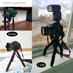 Image 5 - מצלמה אביזרי גמיש ספוג תמנון חצובה עבור Canon/ניקון/סוני ללכת פרו 7 6 5H9R Sj9 Sj8 פרו DJI אוסמו פעולה נייד טלפון