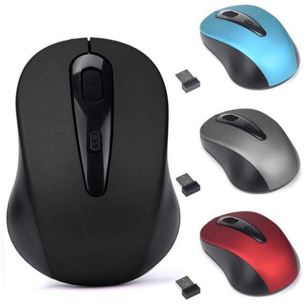 Home Office 3 Keys 1600DPI 2.4GHz Wireless Mouse USB Receiver For PC Laptop