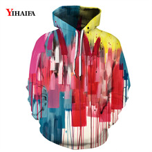 3D Sweatshirt Colorful Graffiti Painted Graphic Hoodies Men Women Casual Long Sleeve Streetwear Pullover Tracksuit Tops zip front crop graphic pullover