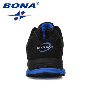 Image 3 - BONA 2019 New Arrival Cow Split Tênis Homem Não Deslizamento Respirável Calçados Esportivos Zapatos Homens Ao Ar Livre Tênis de Corrida calçado