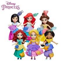 Disney Princess Toy Original Belle Jasmine Aurora Cinderella Merida Mulan Tiana Action Figure Legends Model Doll Birthday Gifts