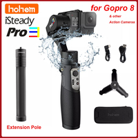 Hohem iSteady Pro 3 3-achse Handheld Splash Proof Gimbal für DJI Osmo Action Gopro Hero 8/7/6/5/4/3 SJCAM YI cam Insta360 EIN R