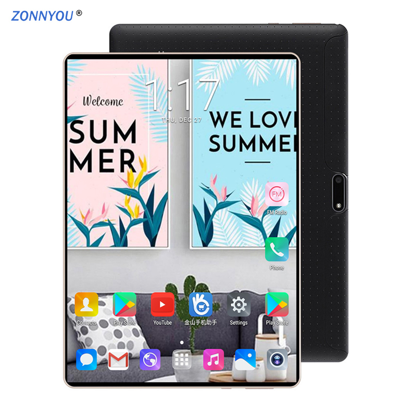 10.1 Tablet PC Android 7.0 3G LTE Octa Core  4 GB RAM 64 GB ROM Dual SIM Tarjetas IPS GPS Tablet PC +Package