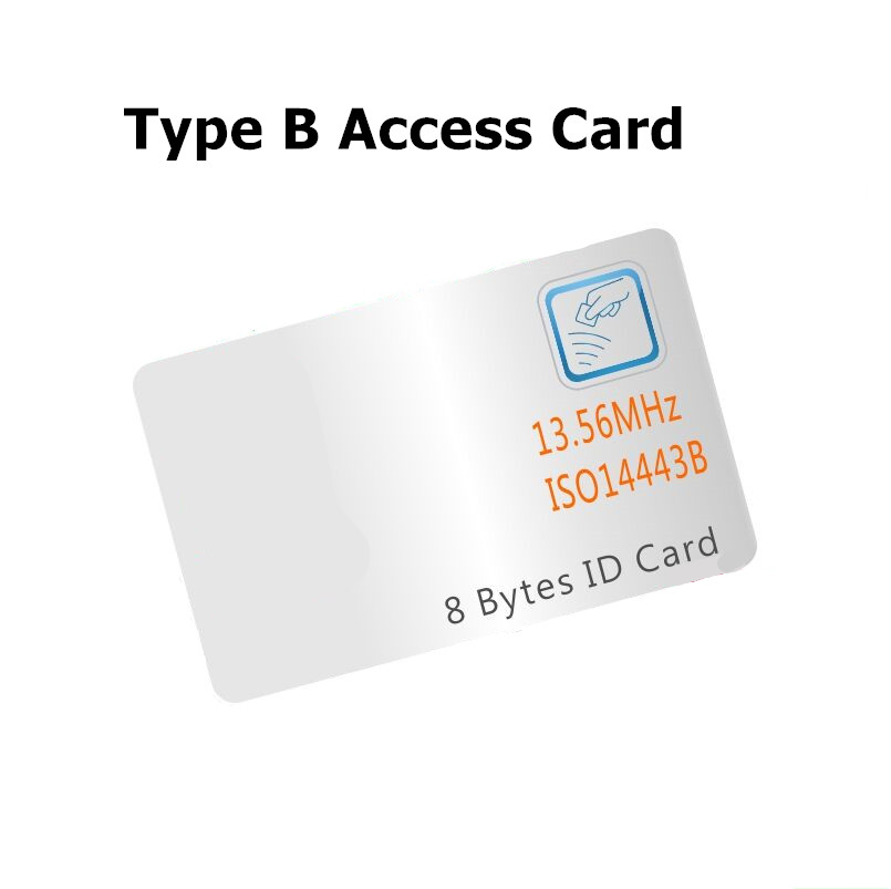 ISO/IEC 14443 Type B PICC  Contactless RFID Card With 8 Byte 13.56mhz HF Smart Hotel Lock Card IC Card